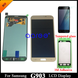Image 2 - adhesive +100% Super AMOLED For Samsung S5 NEO LCD G903F Disaplay LCD Screen Touch Digitizer Assembly Home Button