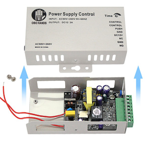 Image 5 - Sistema de controle de acesso de metal 5a, interruptor de fonte de alimentação dc12v/3a AC90V 260V entrada no/nc atraso de tempo para todos tipos fechadura eletrônica k80