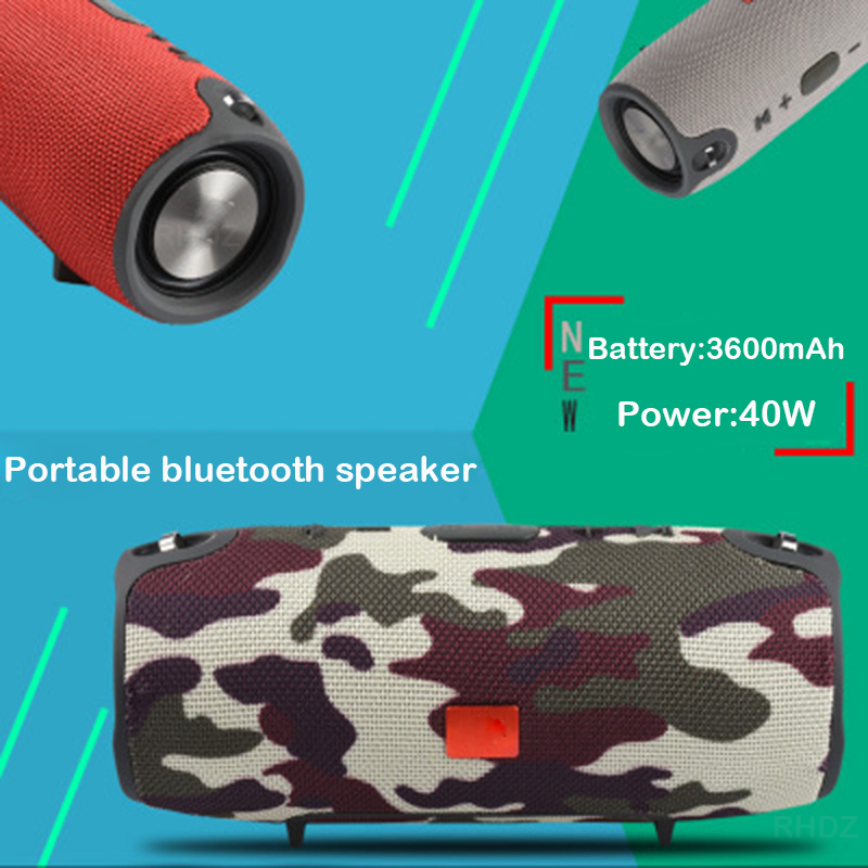 40W Outdoor Bluetooth Speaker Subwoofer TWS Speaker Waterproof Portable Music Player