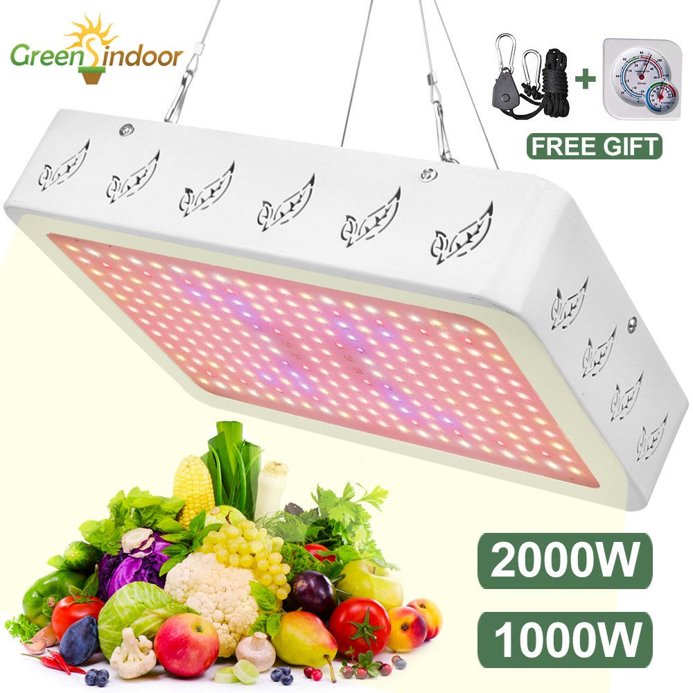 LED Grow Light Full Spectrum 1000W 2000W Indoor Plant Light UV Growing Light For Plants Flowers UV Grow Tent Box Fitolamp Phyto