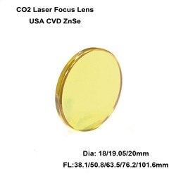 1pc USA CVD ZnSe Focus Lens Dia. 18 mm19.05mm 20mm Focal Length 38.1 50.8 63.5 76.2 101.6 mm CO2 Laser Engraving Cutting Machine