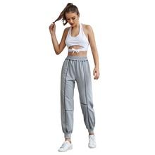 JYSS streetwear elastic joggers women line decoration sweatpants women spodnie damskie black gray trousers girl 30017 jyss белый android