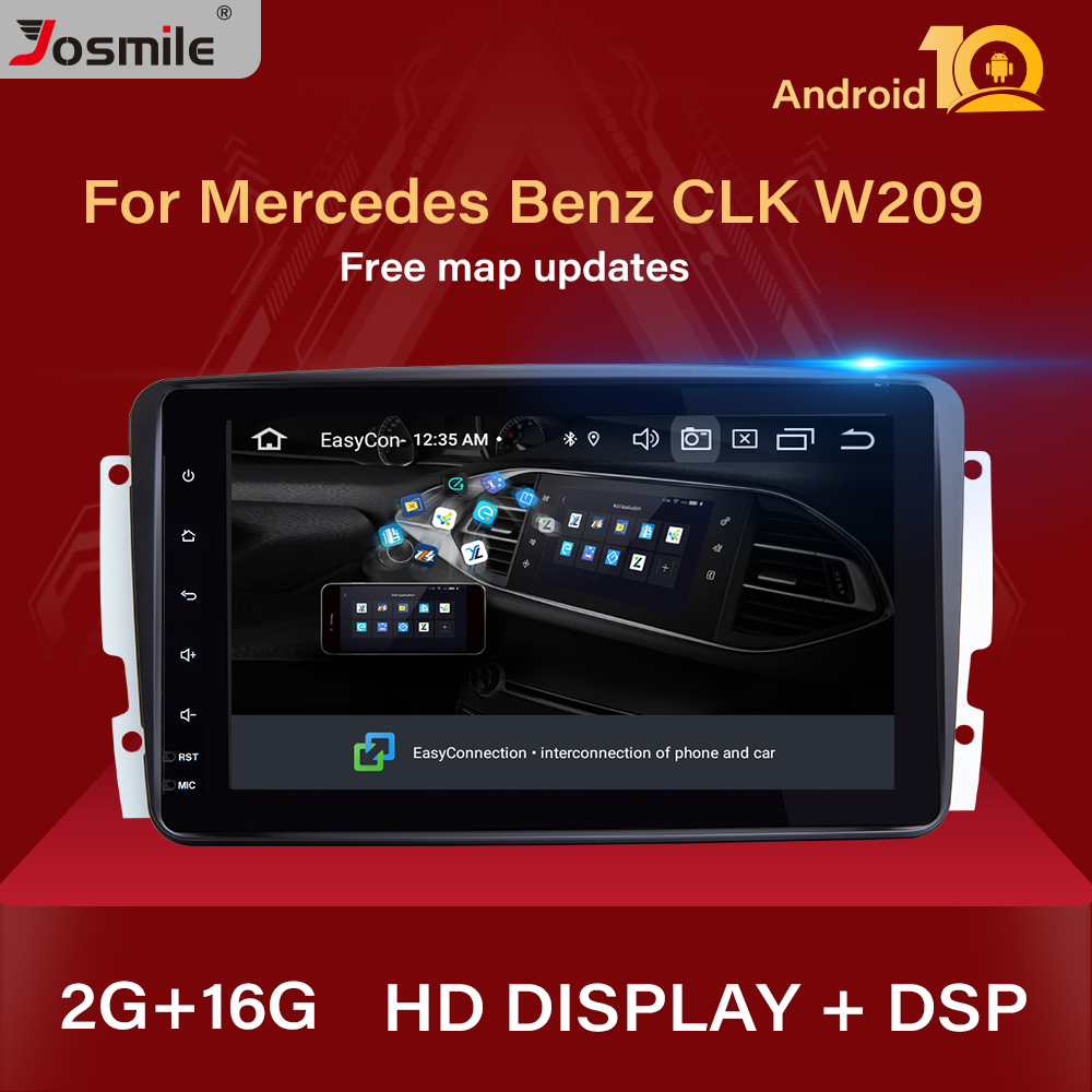 2 Din Android 10 Car DVD Multimedia Player GPS For Mercedes Benz CLK W209 W203 W463 W208 Radio Stereo Audio Navigation Head Unit