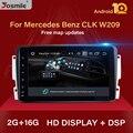 Автомобильный мультимедийный плеер 2 din, Android 10, DVD, GPS для Mercedes Benz CLK W209 W203 W463 W208, радио, стерео, аудио навигация, головное устройство