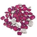 50pcs/bag Red purple opal Resin Mix shape Mix szie flatback sew on rhinestones for clothing DIY Handicrafts accessories