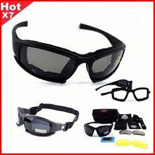 Okulary taktyczne X7 spolaryzowane okulary Airsoft Paintball piesze wycieczki gogle wojskowe polowanie strzelanie okulary z 4 soczewkami tanie tanio demeysis FS X7 C5 Ochrona przed promieniowaniem UV Eyewear Sunglasses China black Climbing gliding travel Unisex Hunting shooting