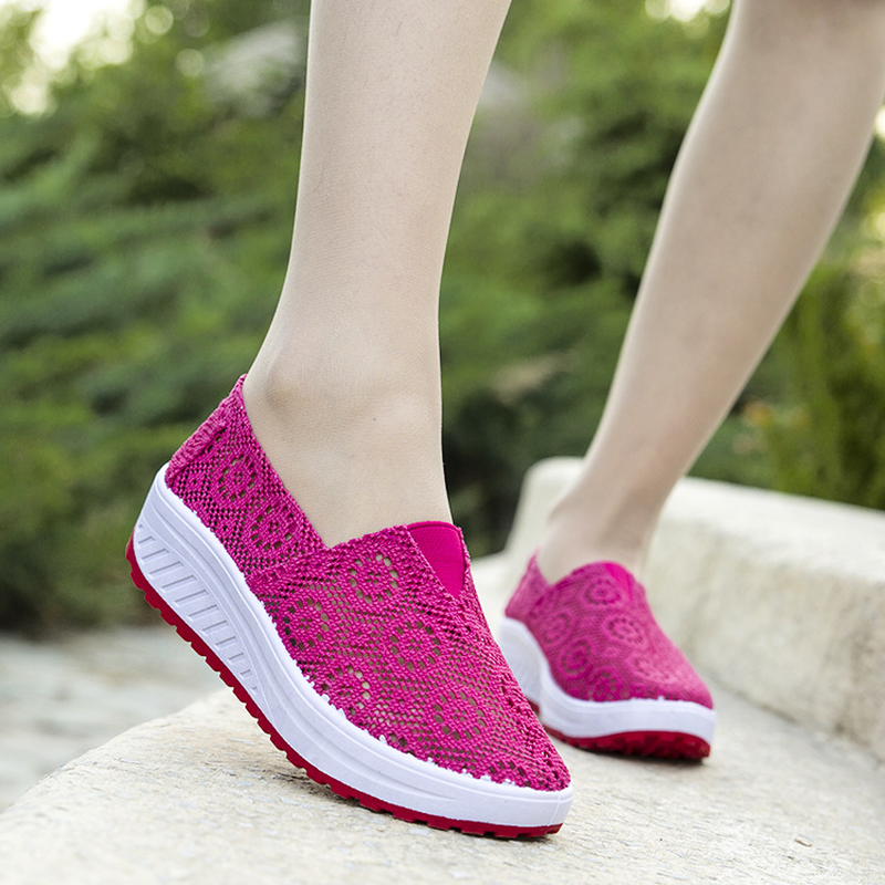 New Women Platform Shoes Summer Slip-on Breathable Casual Shoes Woman