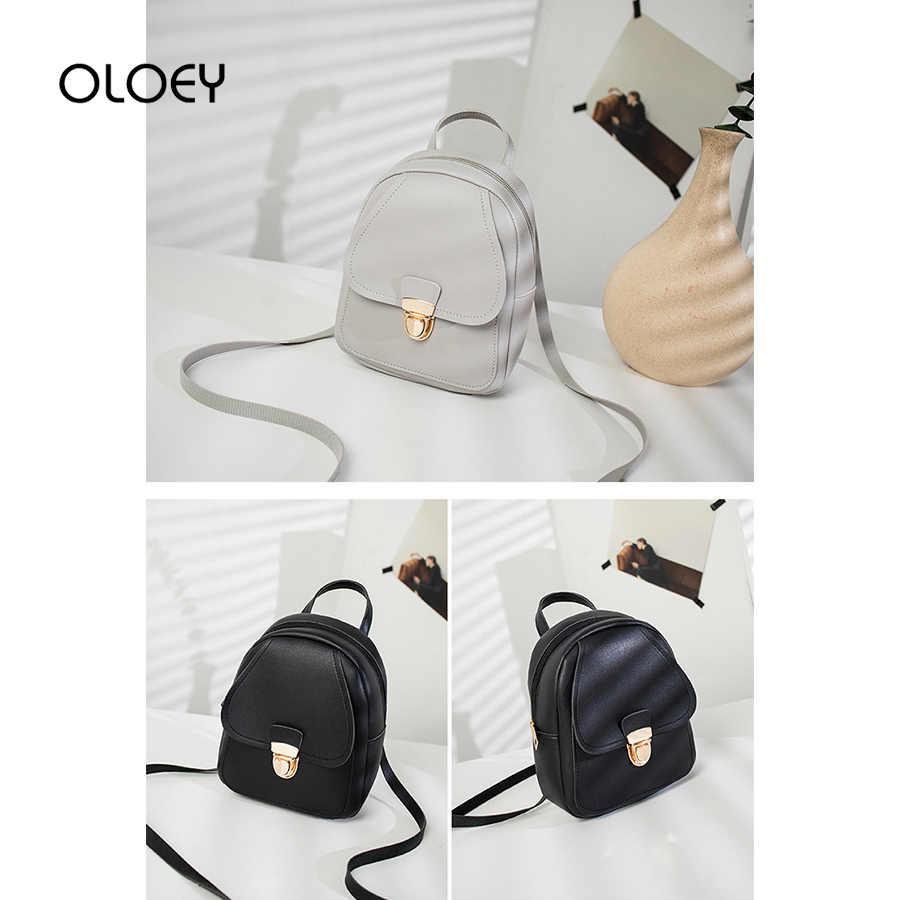 Frauen Leder Rucksack 2019 Neue Koreanische mode weibliche Bagpack Nette Kleine Dame Schulter Taschen Für Teenager Mädchen Mini Mochila sac