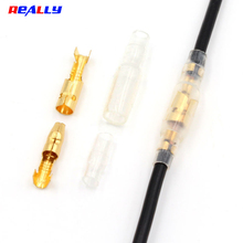 Bullet-Terminals-Connector Insulating-Sleeves Female And with for Car 100pcs/Lot Gold