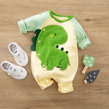 Newborn Baby Boy Clothing Organic Cotton Overalls Children New Born Girl Clothes Romper Infant Jumpsuit Dinosaur Costume Onesie image