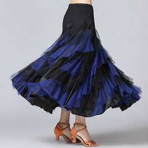 Image 3 - New Women Waltz Salsa Rumba Skirts Ballroom Dance Costume Skirts Women Ballroom Dancing Skirts Spain Dancing Performance