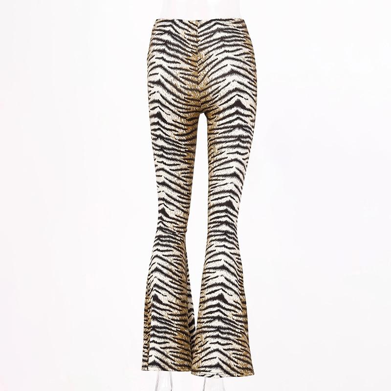 H43fd99e7661c47aba0381ae5b2598108K Hugcitar high waist leopard print flare leggings 2020 autumn winter women fashion sexy bodycon trousers club pants
