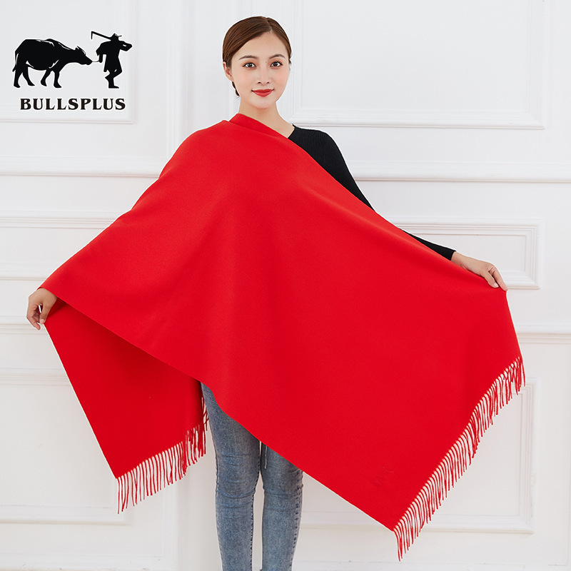 China New Year's Red Scarf Red Scarf Custom Big Red Scarf Begins Red Scarf China Red Scarf Women Men