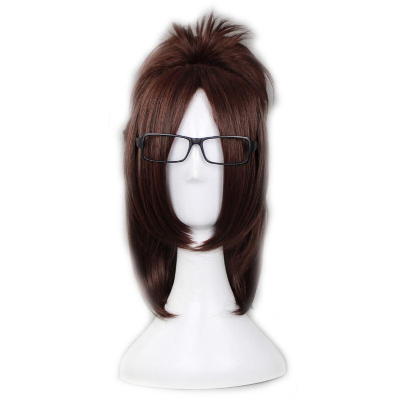 Anime Attack on Titan Hange Zoe Cosplay Wigs Brown Short Heat-resistant Fiber Fake Hair Halloween Party Universal Costume Wig