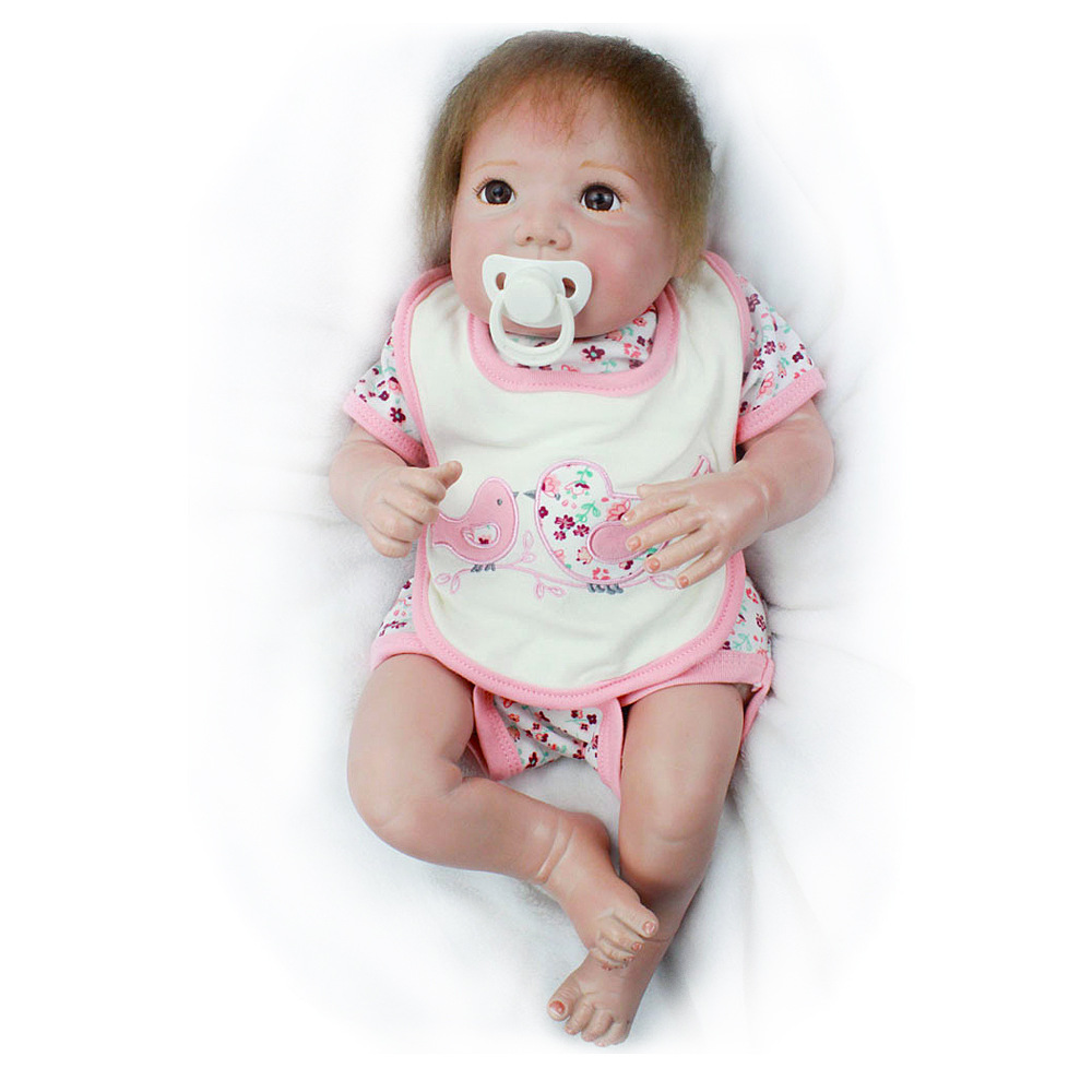 Lifelike Boneca Reborn Baby Doll Soft Real Touch Full Silicone Toys For Children Birthday Gift Vinyl Girls Dolls Kids Playmate  - buy with discount