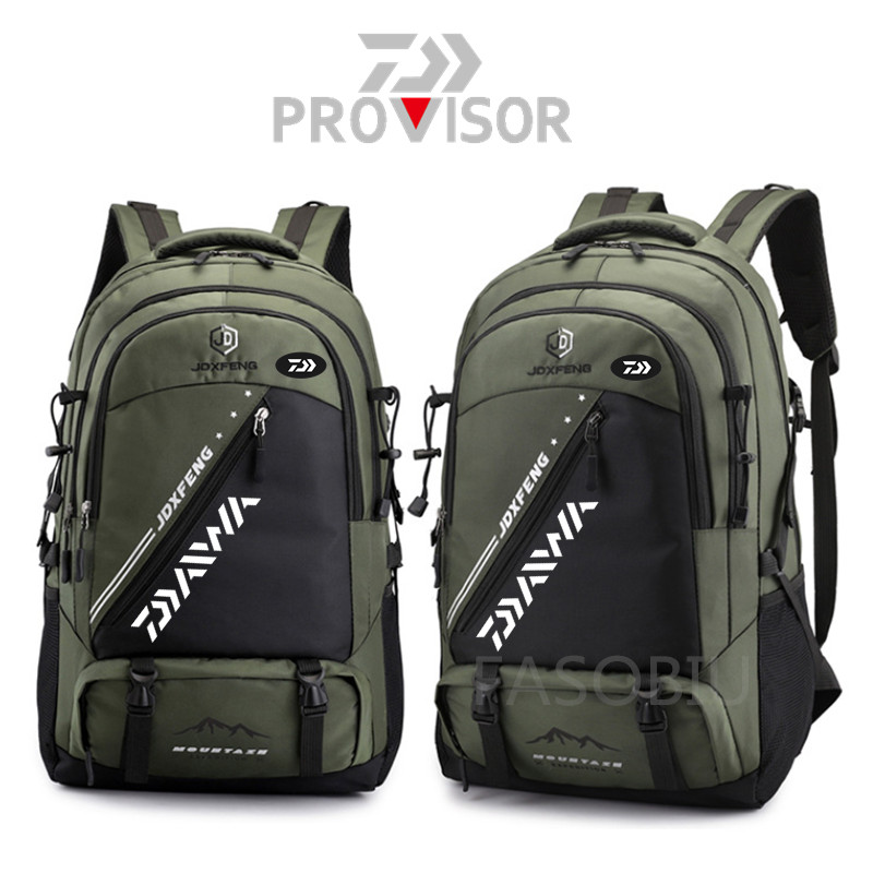 Daiwa Men Fishing Backpack Outdoor Waterproof Breathable Wear-resistant Multipurpose Storage Lock Backpack Travelling Backpack