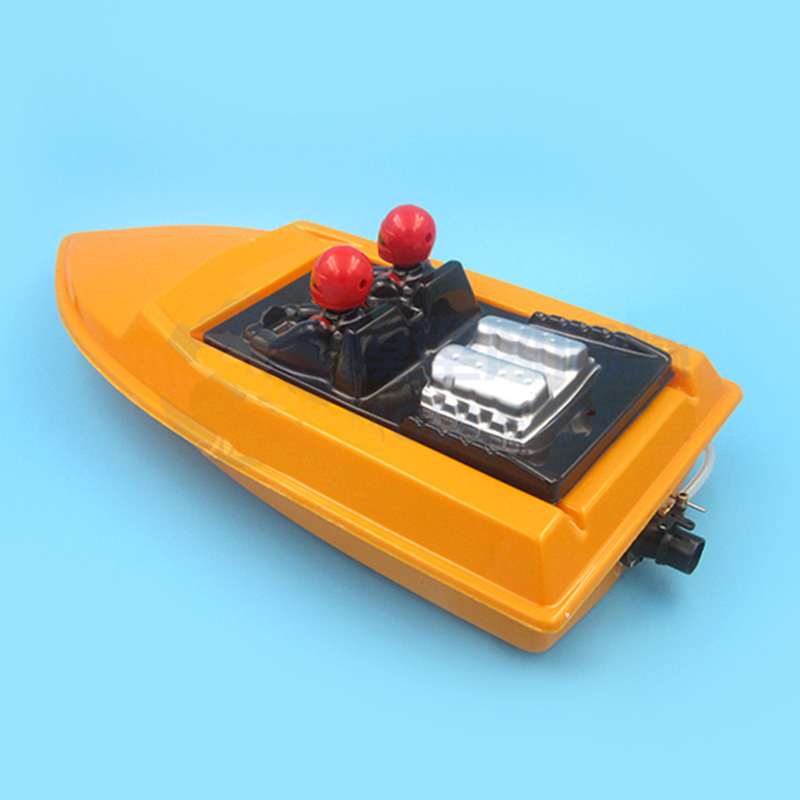 1Set RC Speed Jet <font><b>Boat</b></font> <font><b>Model</b></font> Assembly Plastic <font><b>Hull</b></font>+Full Drive Kit 2440 Brushless Motor+ESC+Cooler+Servo+Pushrod+Pump Sprayer Set image