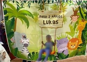 Image 5 - Tło do zdjęć dżungla Safari urodziny spersonalizowany plakat Baby Shower Cartoon zdjęcie dziecka tło Photocall Photo Studio
