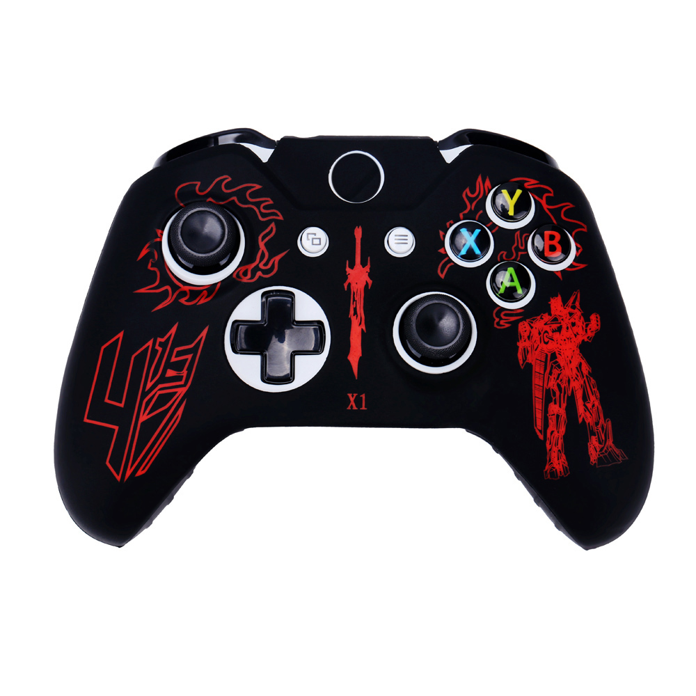 Buy OURSTEAM 10 PCS Laser Painting Silicone Case For Microsoft Xbox One Game Controller for only 28.9 USD