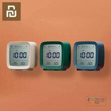 새로운 Cleargrass 블루투스 알람 시계 스마트 컨트롤 온도 습도 디스플레이 LCD 화면 조정 가능한 야간 조명