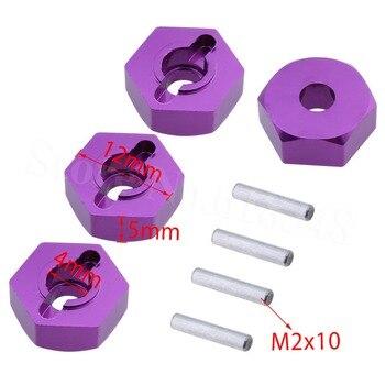 Adaptador de cubo hexagonal de rueda de aluminio de 12mm grosor de Montaje 5mm 959-23 para reemplazo de coche RC WLtoys L959 L979 L202 L212 L222 K959