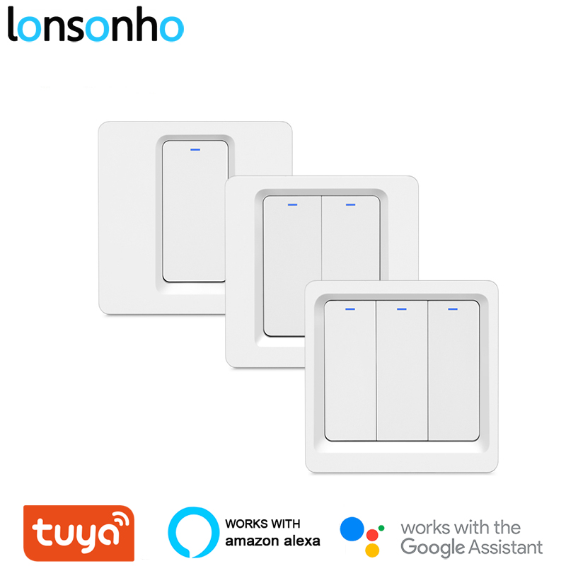 Lonsonho Wifi Switch Smart Switch 220v Smart Home Remote Wireless Light Switch Module Works Alexa Google Home Tuya Smart Life