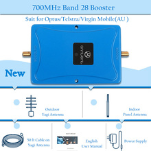 4g lte signal booster 700 MHz repeater mobile 700mhz cellular amplifier 70dB Band 28 and yagi full set
