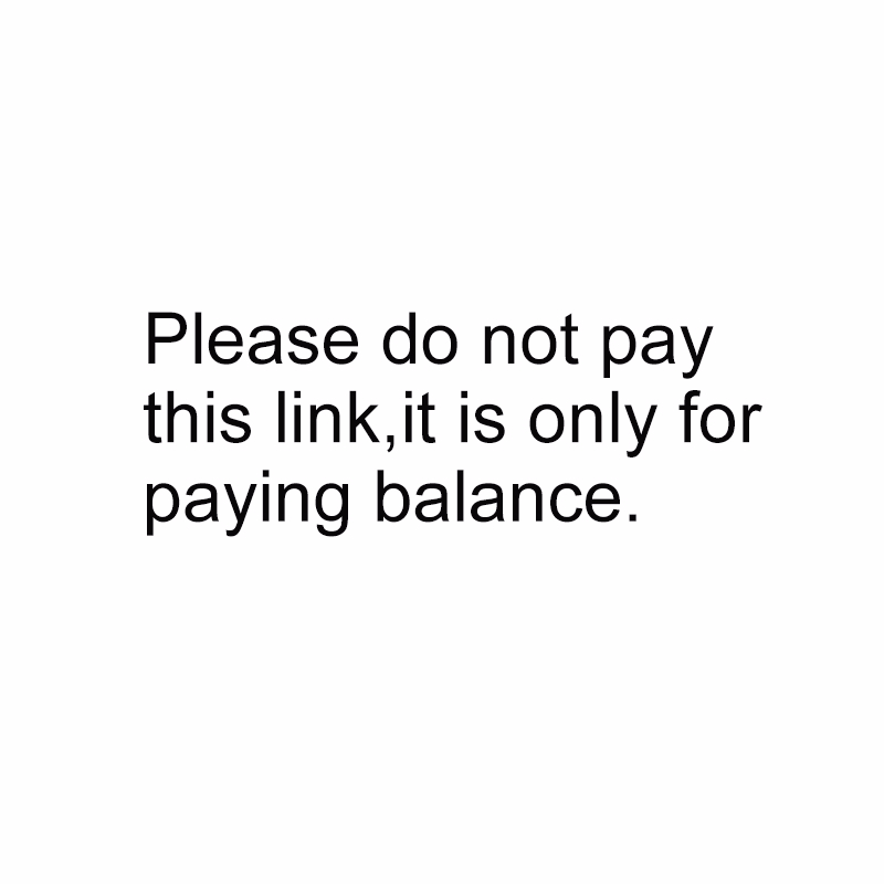 Please do not pay this link, it's only for paying balance.