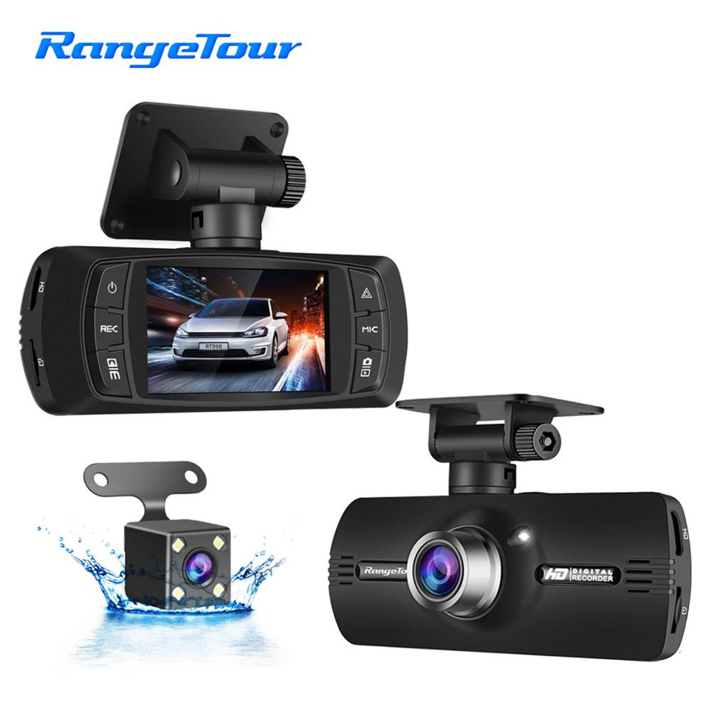 Range Tour <font><b>Car</b></font> <font><b>DVR</b></font> Dash Cam <font><b>With</b></font> <font><b>Two</b></font> <font><b>Cameras</b></font> Include External GPS And G-Sensor Front 1080P+ Rear 480P Driving Video Recorder image