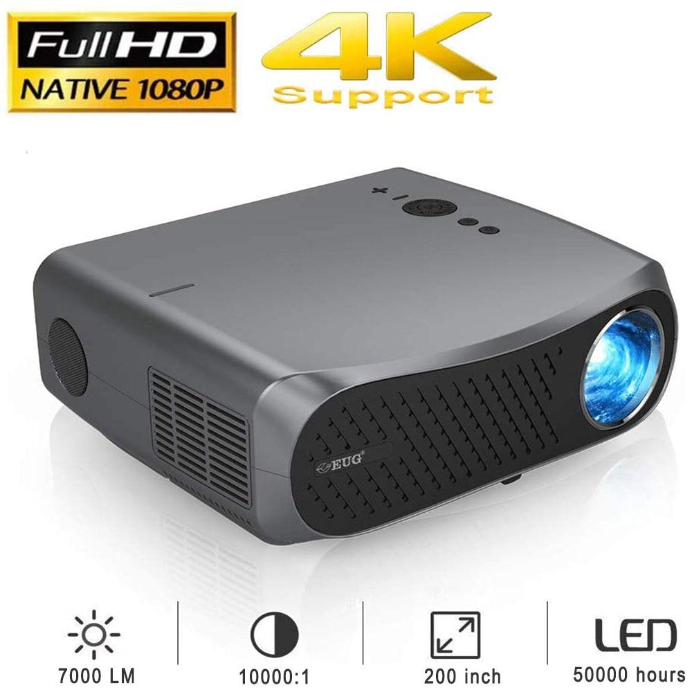 900D Full HD 1080P проекторы LCD 1920x1080 поддержка 4K для домашнего кинотеатра, игровой уличный фильм с Bluetooth