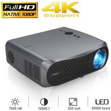 Os projetores completos de 900d hd 1080p lcd 1920x1080 apoiam 4k para o cinema em casa que joga o filme exterior com bluetooth