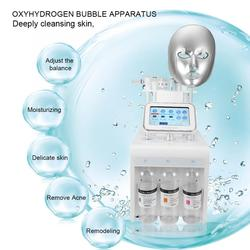 2019 hot sale 8 in 1 hydrogen oxygen activated small bubbles facial cleaning and wrinkle remover machine