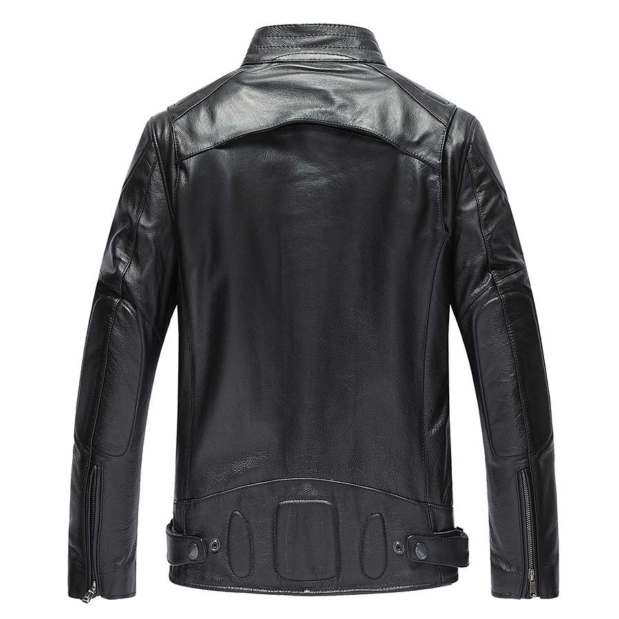 Genuine Leather Jackets For Men Top Quality Cow Leather Jacket Spring Autumn Motocycle Plus Size 4XL Coat 19-801MF610