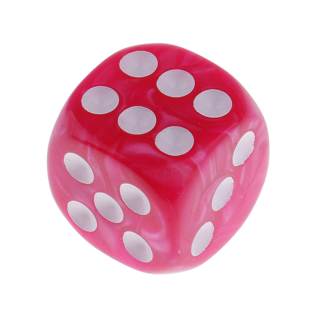 20pcs Pink&Blue Plastic 6-sided Dice D6 For Party Bar Table Game Accessory
