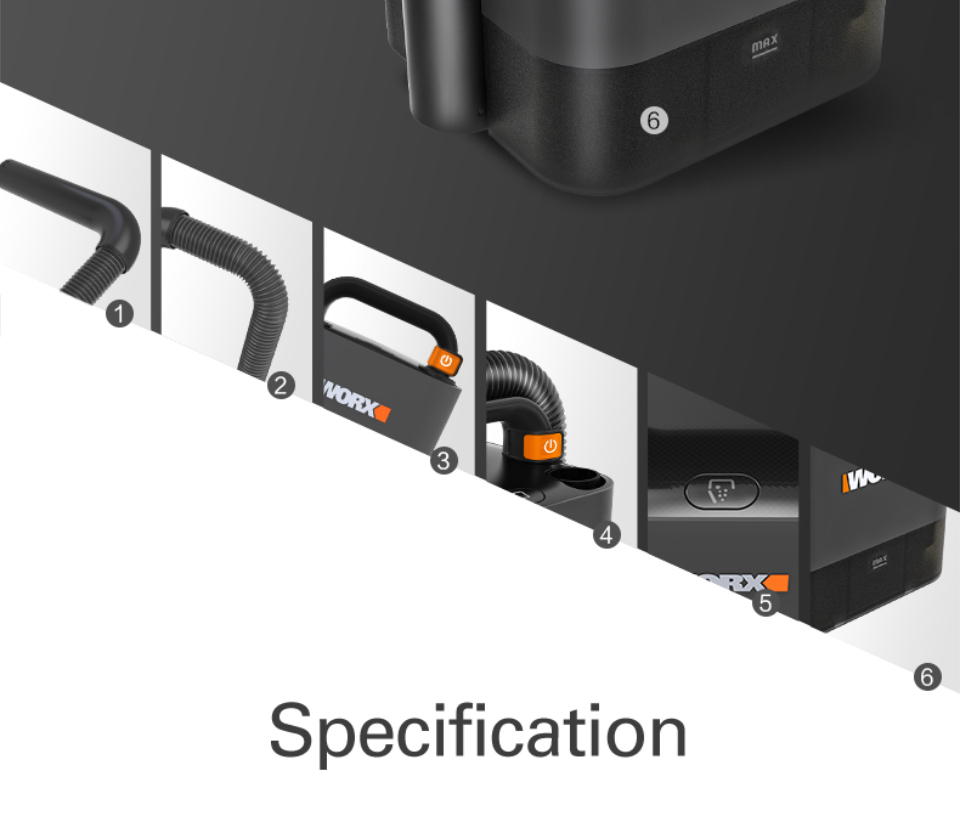 Specification of Worx Vacuum Cleaner