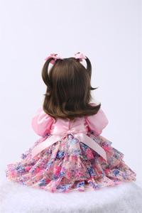 Image 5 - Muñecas de juguete Reborn de silicona de 24 pulgadas para niñas, Niñas de 60cm, princesas como Alive Bebe, Brinquedos, regalo de cumpleaños de colección limitada