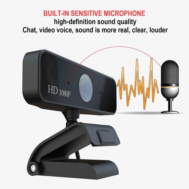 USB Web Camera 1080P HD 5MP Messa A Fuoco Automatica Fotocamera Del Computer Webcam Built-In fonoassorbente Microfono 1920*1080 Risoluzione dinamica 3
