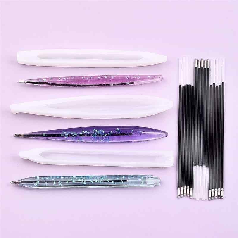 מחזיק עט שרף עובש סיליקון תבניות UV אפוקסי תכשיטי ביצוע כלי תכשיטי DIY מלאכות שרף ליהוק תבניות