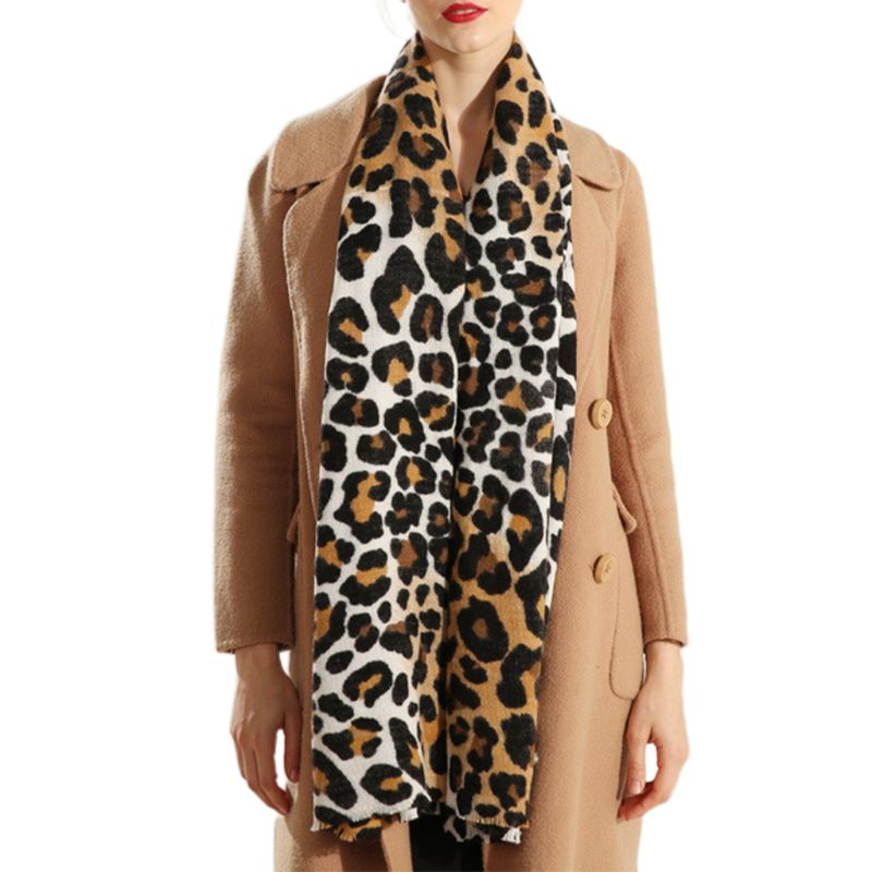 Animal Leopard Print Scarf Shawl Long Large Warm Soft Winter Autumn 100/% Acrylic