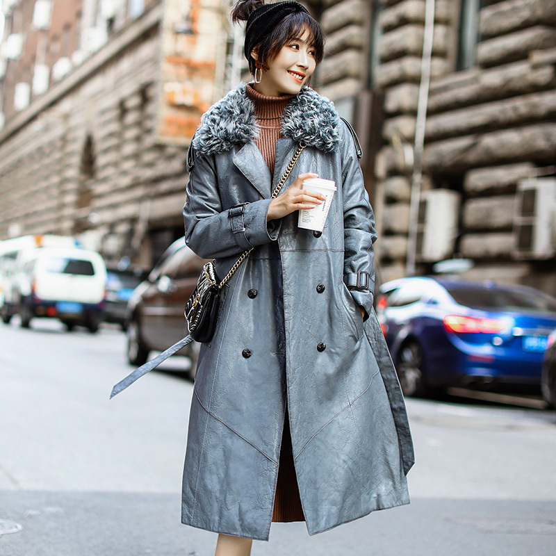 Autumn Winter Real Genuine Leather Jacket Women Clothes 2020 Korean Vintage Sheepskin Down Coat Streetwear Women Tops ZT3437