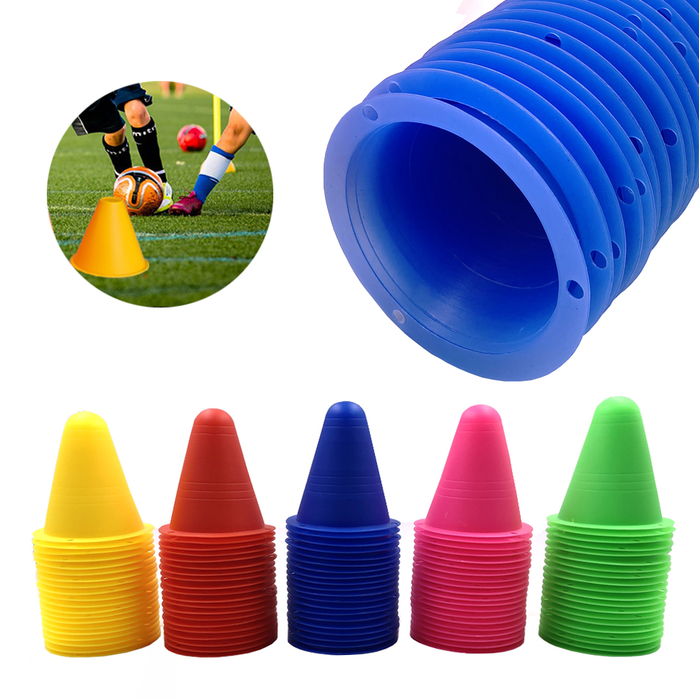 5Pcs/Set Skate Marker Cones Roller Football Soccer Basketball Roller Running Skateboard Training Equipment Marking Cup