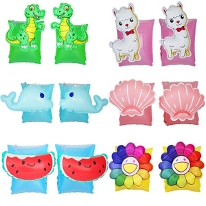 Rooxin Baby Swimming Ring Arm Circle Pool Float Inflatable Swimming Safety Training Watermelon Whale Dinosaur Pool Party Toys(China)