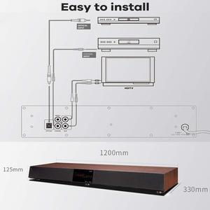 Image 4 - CAV TM1200A Bluetooth Soundbar TV Home Theater Surround Sound Soundbar Subwoofer Speaker Wireless Column DTS Base With Amplifier