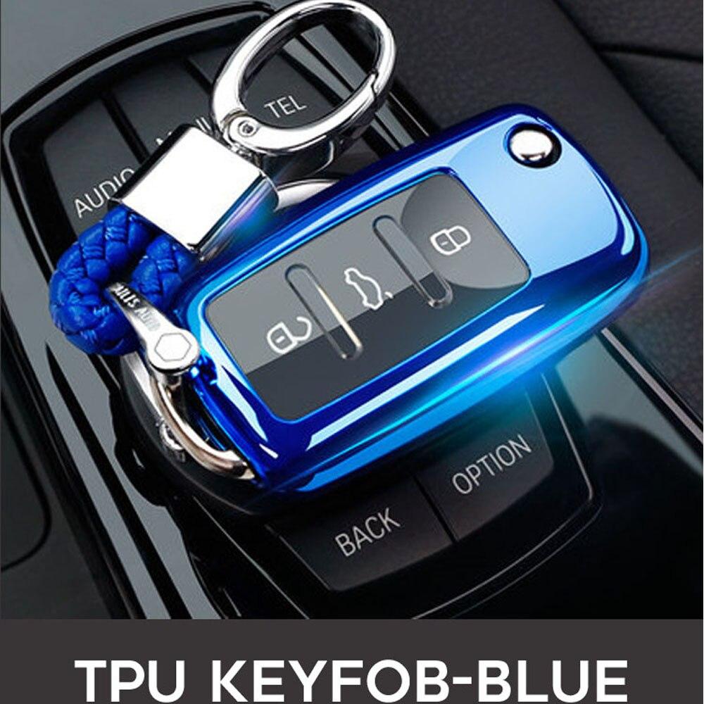 Super Quality Folding For Volkswagen VW Beetle Mk6 Scirocco Fabia Seat C-TREK Car Key Case Shell Wallet Keyfob Car Accessories