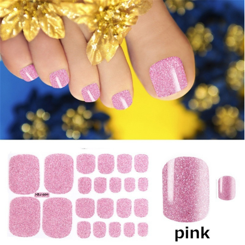 1 Sheet Glitter Teennagel Art Nagellak Stickers Nail Tips Nail File Pure Kleur Adhesive Wraps Manicure Decal Strips Drop Shipping