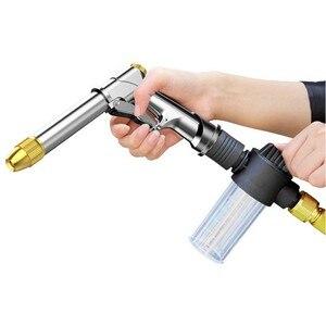 Image 4 - Tragbare hochdruck Wasser Pistole Für Reinigung Auto Waschen Maschine Garten Bewässerung Schlauch Düse Sprinkler Schaum Wasser Pistole dropshipping