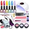 Ur Suiker Manicure Kit Nail Gel Set Met Led Nagel Lamp 20000 Rpm Nail Boor Machine Nagellak Acryl Kit nail Art Tool