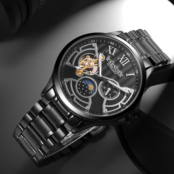 Luxury Tourbillon Waterproof Mechanical Black Watch 3