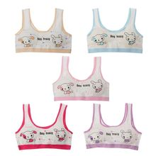 цена Kids Bra For Teenage Girls Cotton Children Girls Underwear Clothing Teen Sports Bra with Chest Pad Puberty Girl training Bra онлайн в 2017 году