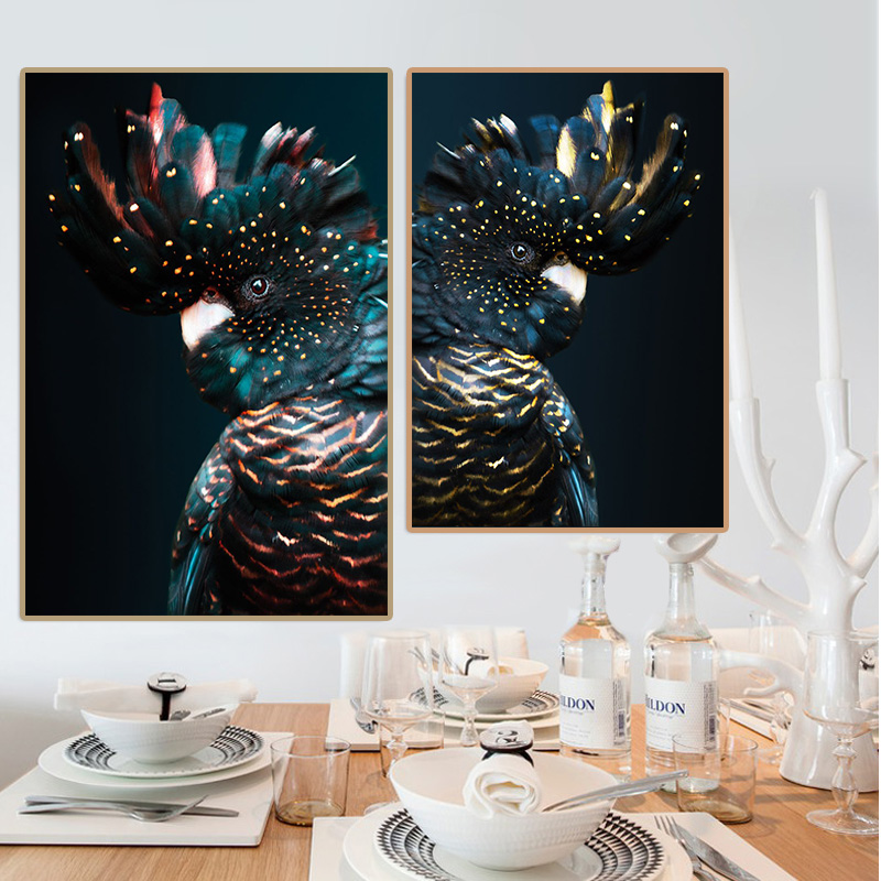 canvas-print-Painting-wall-art-Cockatoo-Animal-Posters-Children-s-room-bedside-decoration-picture-American-Modern (3)